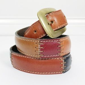 Fossil • Patchwork Leather Belt